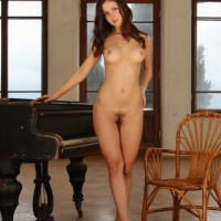 Nude piano girl